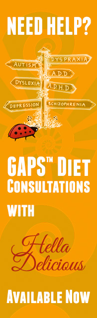 Need help with the GAPS Diet? Get a consultation from GAPS expert, Hella Delicious!