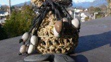 Hemp Rune Pouches with Rune Stones