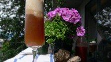 Pomegranate Kombucha and Lychee Float