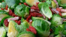 Brussel Sprouts with Goji Berries