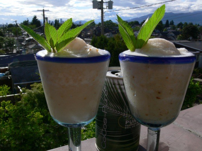 lychee and coconut water sorbet